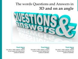 The Words Questions And Answers In 3d And On An Angle