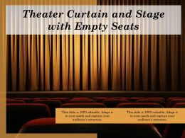 Theater Curtain And Stage With Empty Seats