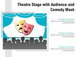 Theatre Stage With Audience And Comedy Mask