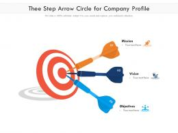 Thee Step Arrow Circle For Company Profile