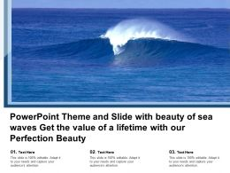 Theme And Slide With Beauty Of Sea Waves Get The Value Of A Lifetime With Our Perfection Beauty