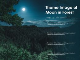 Theme Image Of Moon In Forest
