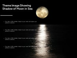Theme Image Showing Shadow Of Moon In Sea