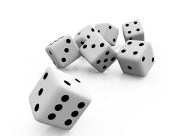 Theme Of Dice Games For Little Kids Stock Photo