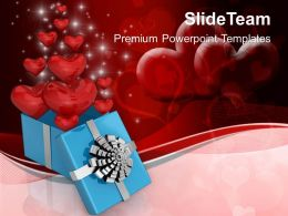 Theme Of Love Happy Valentines PowerPoint Templates PPT Themes And Graphics 0213