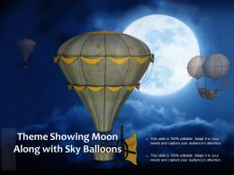 Theme Showing Moon Along With Sky Balloons