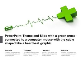 Theme Slide With A Green Cross Connected To A Computer Mouse With Cable Shaped Like A Heartbeat Graphic