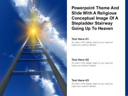 Theme Slide With A Religious Conceptual Image Of A Stepladder Stairway Going Up To Heaven