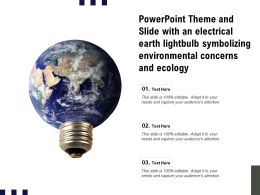 Theme Slide With An Electrical Earth Lightbulb Symbolizing Environmental Concerns Ecology