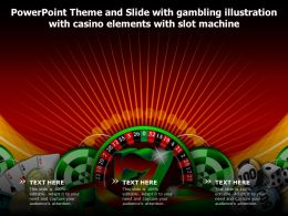 Theme Slide With Gambling Illustration With Casino Elements With Slot Machine
