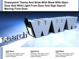 Theme Slide With Www With Open Door And With Light From Door And Sign Search Moving From Door