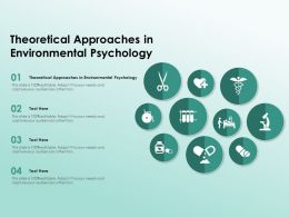 Theoretical Approaches In Environmental Psychology Ppt Powerpoint Presentation Summary