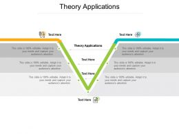 Theory Applications Ppt Powerpoint Presentation Visual Aids Ideas Cpb