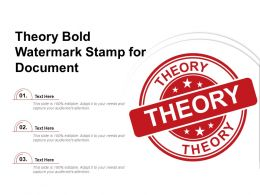 Theory Bold Watermark Stamp For Document