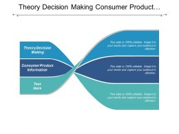 Theory Decision Making Consumer Product Information Labor Time Management Cpb
