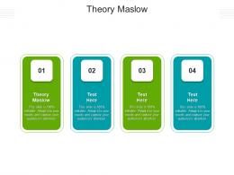Theory Maslow Ppt Powerpoint Presentation Professional Themes Cpb