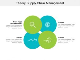 Theory Supply Chain Management Ppt Powerpoint Presentation Portfolio Objects Cpb