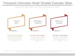 Therapeutic Information Model Template Examples Slides
