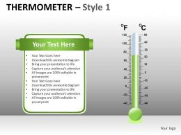 Thermometer 1 Powerpoint Presentation Slides DB