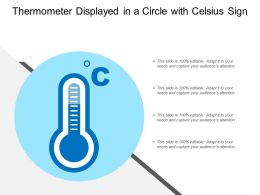 Thermometer Displayed In A Circle With Celsius Sign