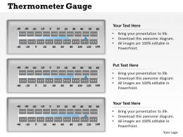 Thermometer Gauge Powerpoint Template Slide