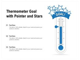 Thermometer Goal With Pointer And Stars