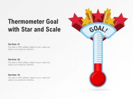 Thermometer Goal With Star And Scale