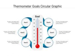 Thermometer Goals Circular Graphic