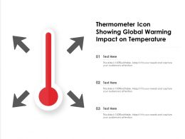 Thermometer Icon Showing Global Warming Impact On Temperature