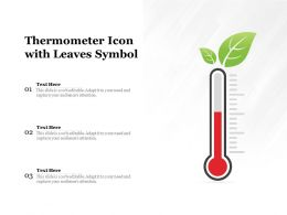 Thermometer Icon With Leaves Symbol