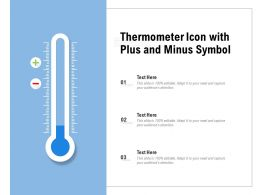 Thermometer Icon With Plus And Minus Symbol