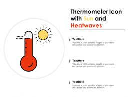 Thermometer Icon With Sun And Heatwaves