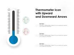 Thermometer Icon With Upward And Downward Arrows