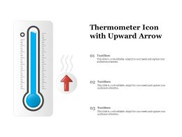 Thermometer Icon With Upward Arrow