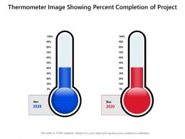 Thermometer Image Showing Percent Completion Of Project