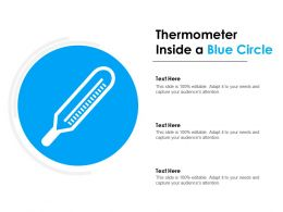 Thermometer Inside A Blue Circle