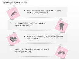 Thermometer Teeth Ecg Tablets Ppt Icons Graphics