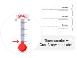 Thermometer With Goal Arrow And Label