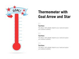 Thermometer With Goal Arrow And Star
