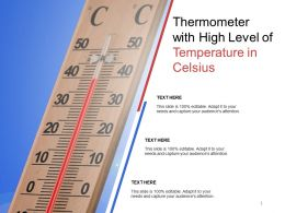 Thermometer With High Level Of Temperature In Celsius