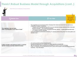 Thesis1 Robust Business Model Through Acquisitions Cont Ppt Powerpoint Rules