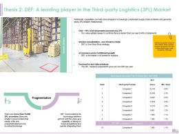 Thesis 2 DEF A Leading Player In The Third Party Logistics 3PL Market Ppt Microsoft