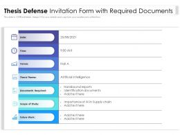 Thesis Defense Invitation Form With Required Documents