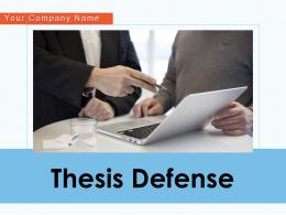 Thesis Defense Roadmap Individual Researcher Strategy Presentation