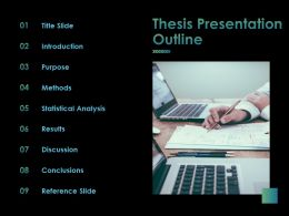 Thesis Presentation Outline Ppt Powerpoint Presentation File Visual Aids
