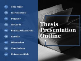 Thesis Presentation Outline Ppt Summary Inspiration
