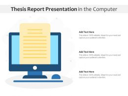 Thesis Report Presentation In The Computer
