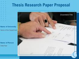 Thesis Research Paper Proposal Powerpoint Presentation Slides