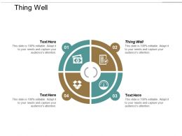 Thing Well Ppt Powerpoint Presentation Portfolio Show Cpb