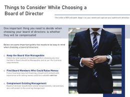 Things To Consider While Choosing A Board Of Director